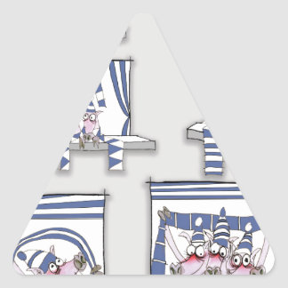 piggy matchday blues triangle sticker