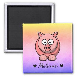 Piggy Piglet Little Pink Pig Cute Pastel Magnet