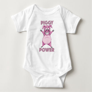 PIGGY POWER BABY BODYSUIT