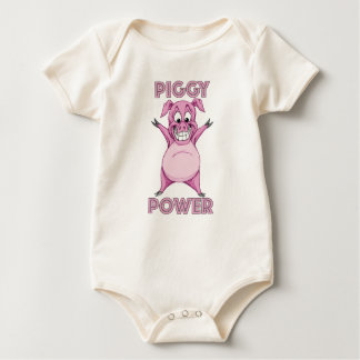 PIGGY POWER BABY BODYSUIT
