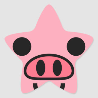 Piggy Star Sticker
