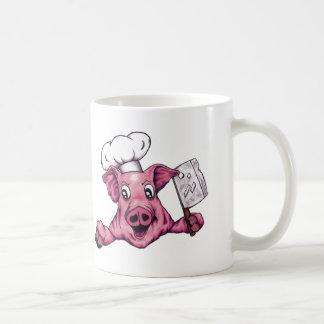 Piggy The Hamicidal Maniac Cartoon Pig Chef Art Coffee Mug