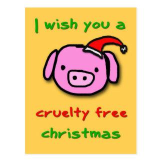 Piggy xmas postcard