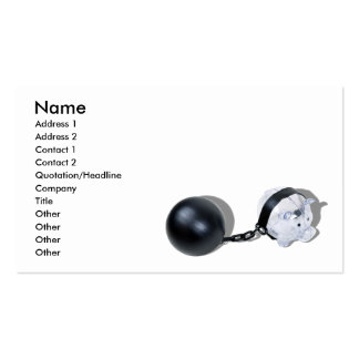 PiggyBankBallChain092110, Name, Address 1, Addr... Business Card Templates