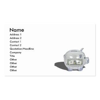 PiggyBankMillionSavings102410, Name, Address 1,... Business Card Templates