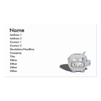 PiggyBankZeroSavings102410, Name, Address 1, Ad... Business Cards
