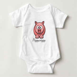PiggyWiggy Little Pigling Pastel Cute Piglet Baby Bodysuit