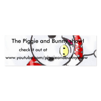 Pigie and bunny show ad cards. pack of skinny business cards