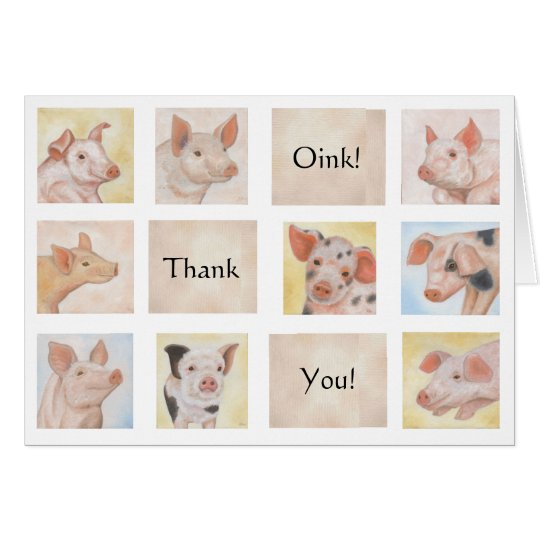 Piglet Thank You card