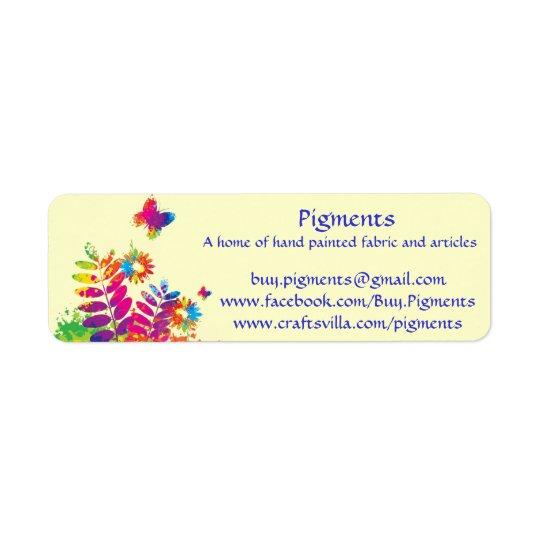 Pigments-Return address/product labels -customise