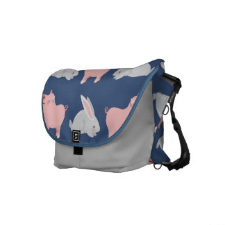 Pigs and Bunnies Courier Bag