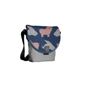 Pigs and Bunnies Messenger Bags