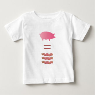 Pigs Equals Bacon Baby T-Shirt