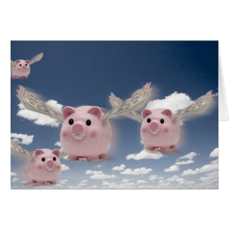 Pigs Fly Card