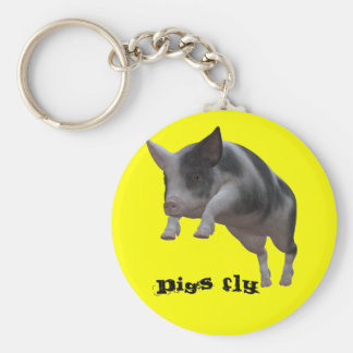 Pigs fly keychain