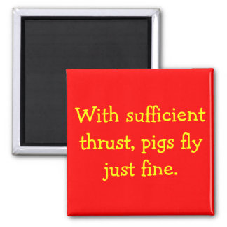 Pigs Fly Square Magnet