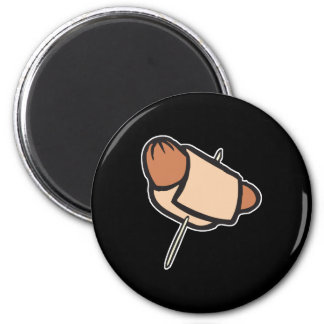 pigs in a blanket hors d oeuvres 6 cm round magnet