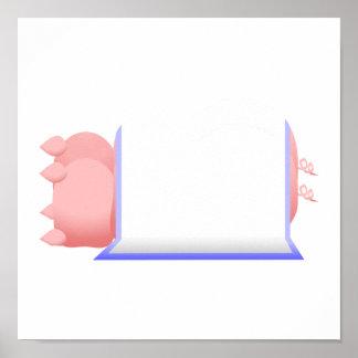 Pigs In A Blue Blanket Print
