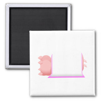 Pigs In A Pink Blanket Refrigerator Magnet