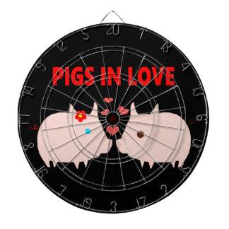 pigs in love dartboard