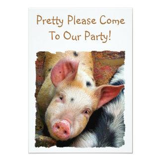 PIGS 13 CM X 18 CM INVITATION CARD