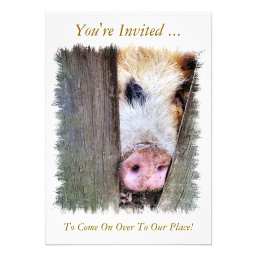 PIGS PERSONALIZED ANNOUNCEMENTS