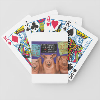 Pigs On Strike Bicycle Playing Cards