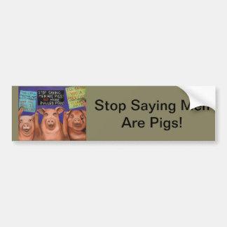 Pigs On Strike Bumper Sticker