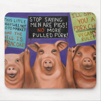 Pigs On Strike Mouse Pad