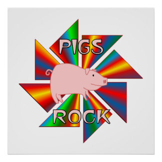 Pigs Rock Posters
