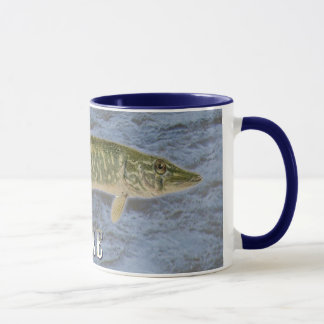 Pike Freshwater Fish, With Water Background Image Mug