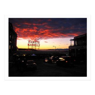 Pike Market, Seattle Postcard