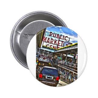 Pike Place Market Pinback Button