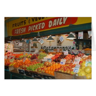Pike Place Market Fruit Stand Card
