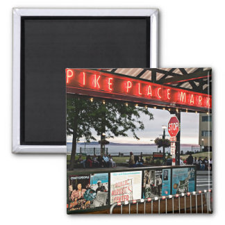 pike place market Seattle Square Magnet