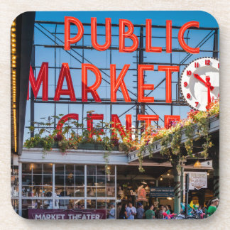 Pike Place Public Market Beverage Coasters
