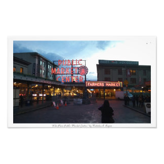 """Pike Place Public Market Center"" Photo Prints"