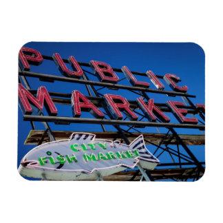 Pike Place Public Market Sign Rectangular Photo Magnet