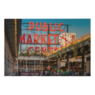 Pike Place Public Market Wood Canvases