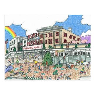 Pike's Market Place, Seattle, Washington Post Card