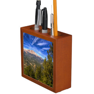 Pikes Peak and Blue Sky Desk Organiser