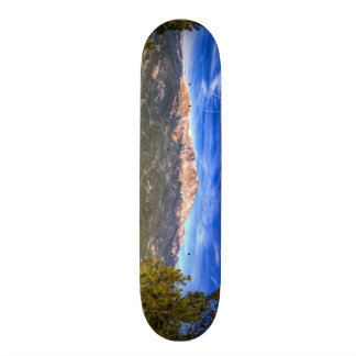 Pikes Peak and Blue Sky Skateboard Deck