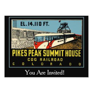 Pikes Peak Colorado 14 Cm X 19 Cm Invitation Card