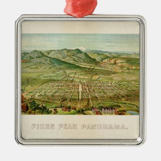 Pikes Peak, Colorado Springs, Colorado (1890) Metal Ornament