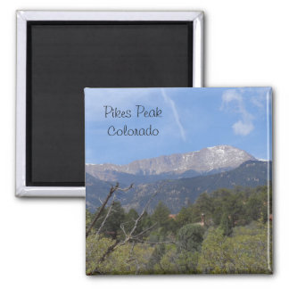 Pikes Peak- Colorado Springs Square Magnet