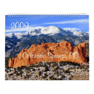 Pikes Peak Mountain, Colorado Springs, CO Wall Calendar
