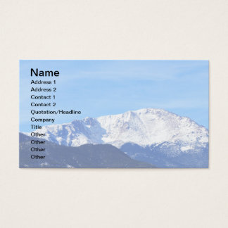 Pikes Peak Mountain, Colorado Springs, Colo Business Card