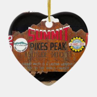 Pike's Peak Summit, Colorado Ceramic Ornament