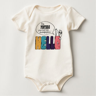 "PIKONOTE baby body suit ""hello"" BABY BODYSUIT"