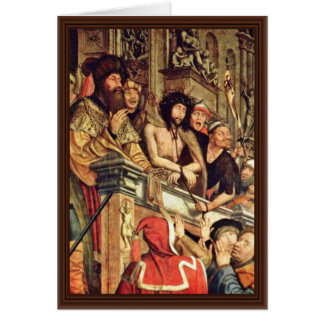 Pilate Shows Christ To The People By Massys Quenti Card